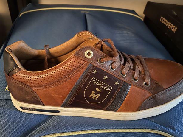 Pantofi piele barbati PANTOFOLA D ORO mondovi low marime 41,maro