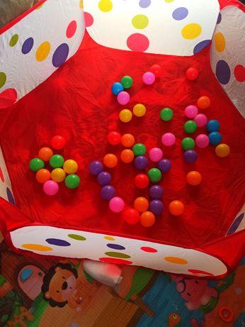 Сухой бассейн с шариками 50 шт, игровой манеж