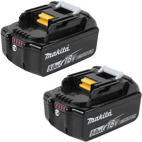 Акумулаторни батерии Makita BL1850 - 2бр , 18V , 5Ah , 2год. гаранция
