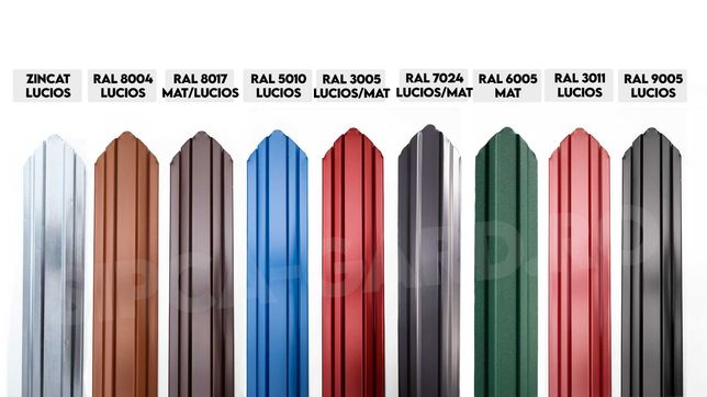 Vindem Sipca Metalica Gard din STOC Zincat/Rosie/Maro Focsani