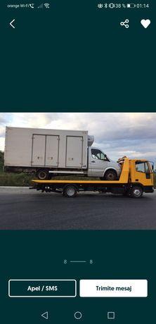 tractari auto utilaje transport platforma