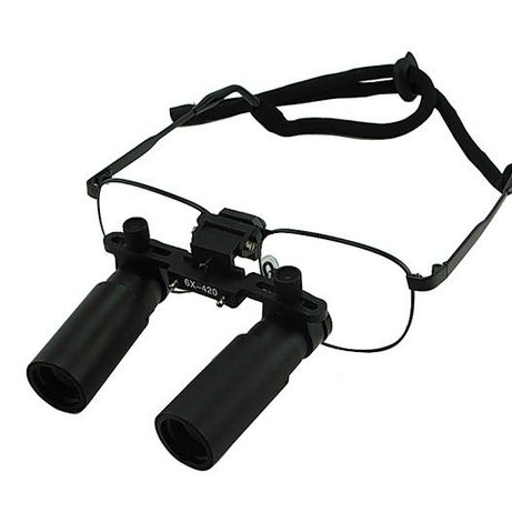 Бинокулярни увеличителни очила 6Х увеличение с рамка от никелова
