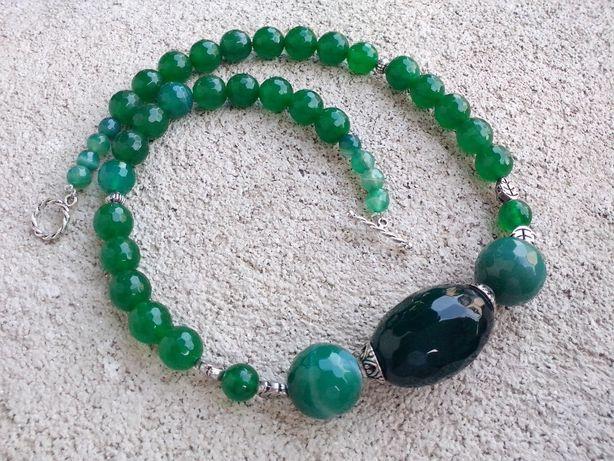 colier agate verzi