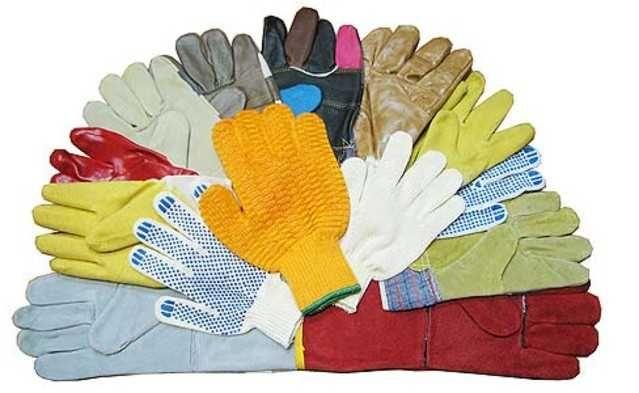 Перчатки хб, прорезиненные, рабочие, строительные оптом Алматы РК