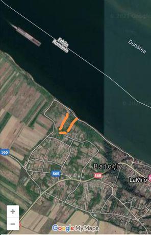 Vind teren cu deschidere la Dunare