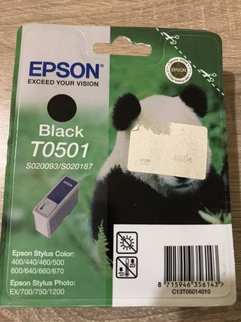 Brother p-touch 7000 Epson T0501 и Т2431 Тонер Черен