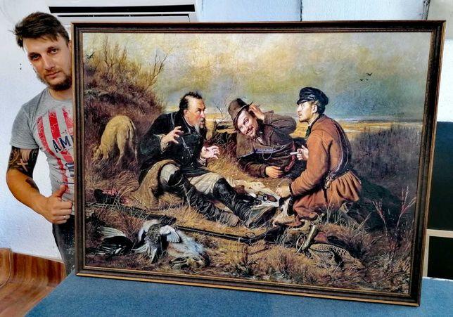 Tablouri Pictura reproducere , vânători de Vasily Perov