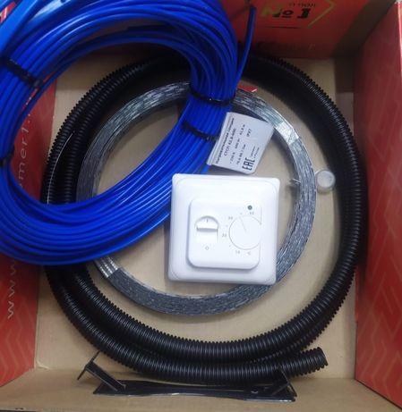 электрический теплый пол Алматы, греющий кабель Алматы, нагревательный