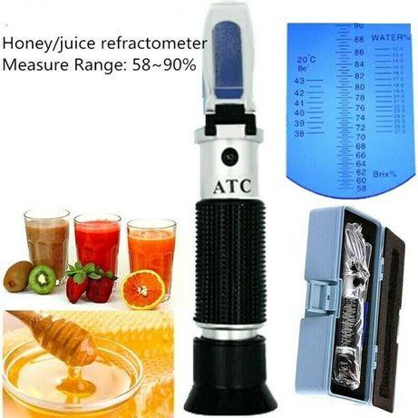 Оптичен рефрактометър  за пчелен мед сок