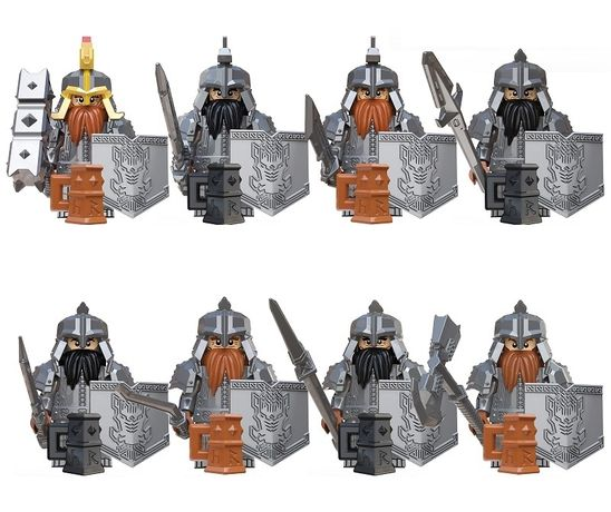 Set 8 Minifigurine noi tip Lego Lord of the Rings 8 cu Dwarven Army