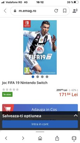 Joc FIFA 19 Nintendo Switch