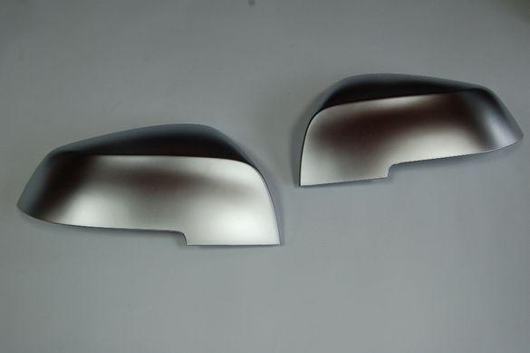 Сив мат капаци за огледала за BMW F30/F31
