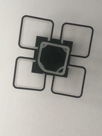 Lustra telecomanda negru