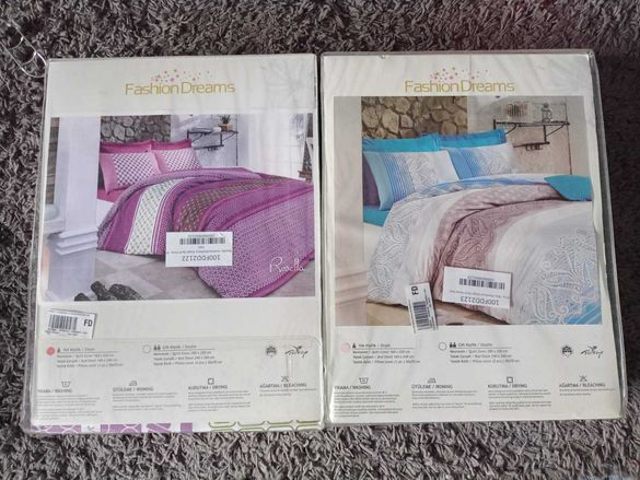 Нови спални комплекти памук
