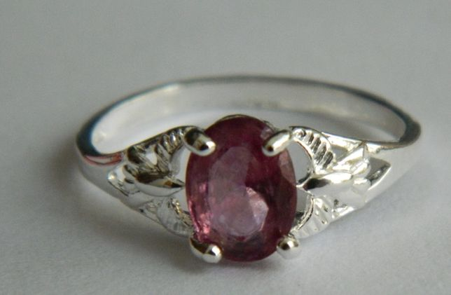 A28,inel argint 925,nou/marcat,zircon roz fatetat,ideal logodna