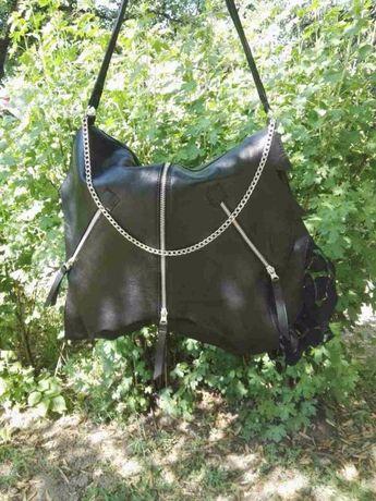 Дизайнерска дамска чанта - естествена кожа