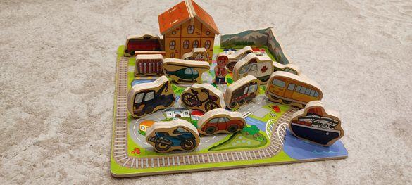 Дървен конструктор град