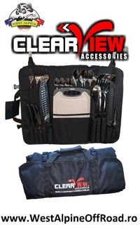 Kit tacamuri bucatarie camping - Producator Clearview - 24 piese!