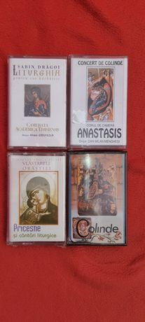 Lot 4 casete audio Muzica Bizantina Ortodoxa