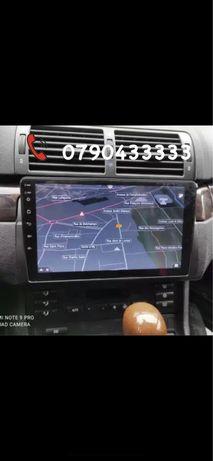 Navigatie auto dedicata bmw e46 android 9.1 2gb ram oferta noua usb