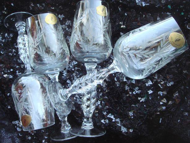Рюмки большие 4 штуки для шампанского Гусь Хрустальный на экспорт