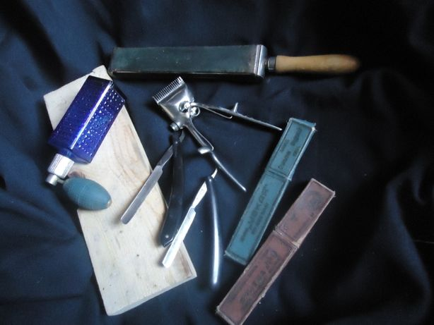 Бритвы складные с точилкой кожаной уникальной и станок для стрижки