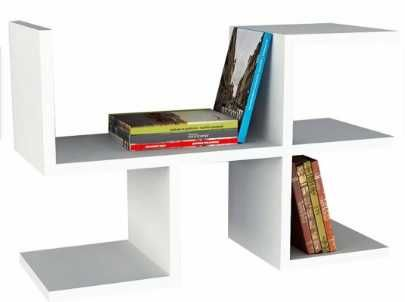 Raft/biblioteca unicat,initiala E,chic modern ideal decor,youtube- ALB