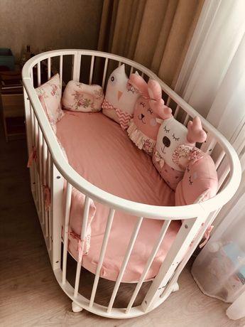 Детская кроватка трансформер 3 в 1