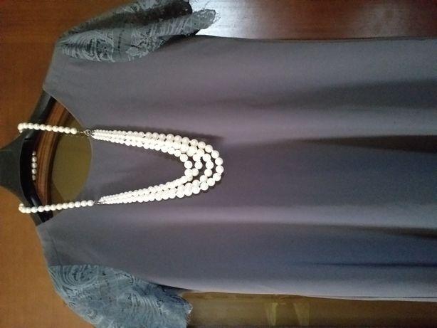 Продам платье,насыщенный серый цвет,размер 48-50