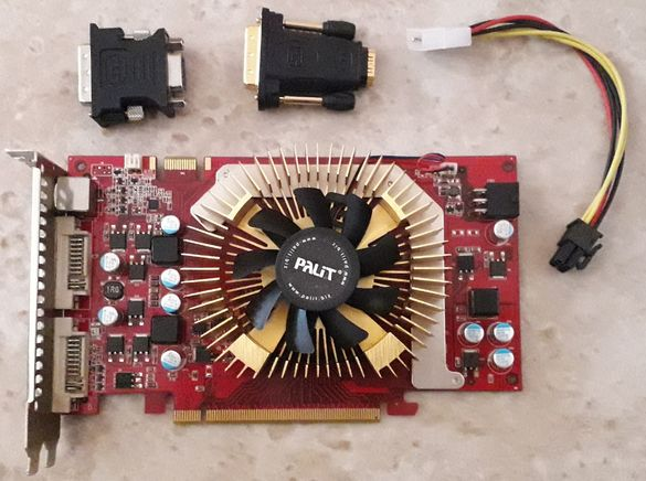 Видеокарта GF9600GT, 512MB DDR3, PCI-E, dual DVI
