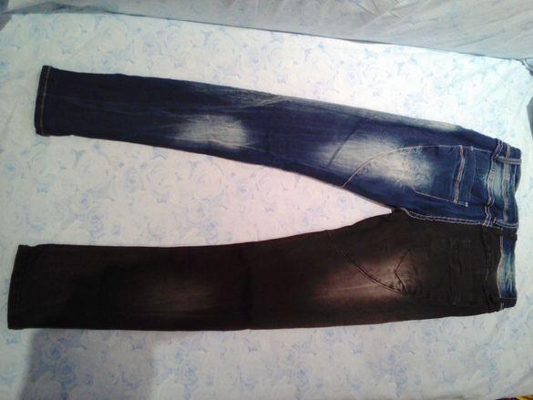 Интересни с сив и син крачол еластични екстравагантни, елегантни дънки гр. Ловеч - image 2