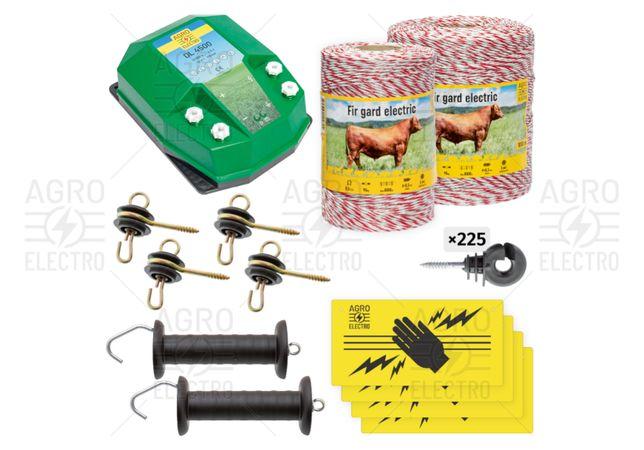 Pachet de bază gard electric 1500 m, 4,5 J, pentru animale domestice