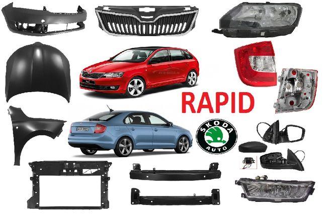 Кузовные детали, капот фара бампер решетка Skoda Rapid
