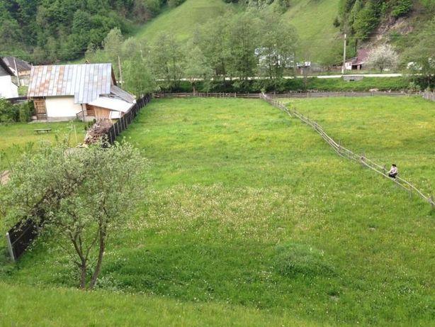 Teren Satic Poalele muntilor Piatra Craiului asfalt curent electric