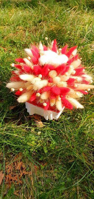 Aranjament cu flori uscate