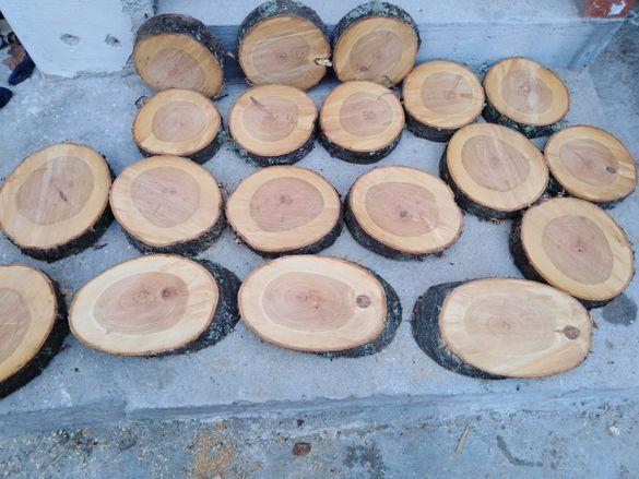Дървени шайби от череша