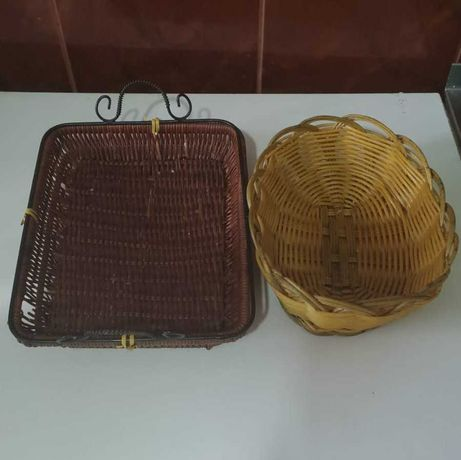 Хлебницы корзинные и стеклянная посуда