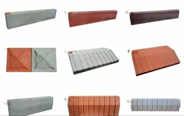Накрывочные элементы (шляпы) бордюры , пореблик