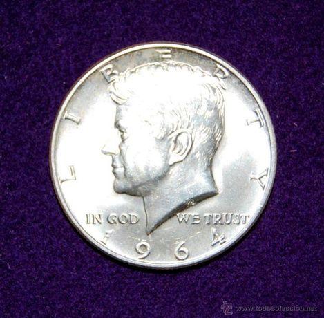 Moneda 1/2 dollar USA-1964