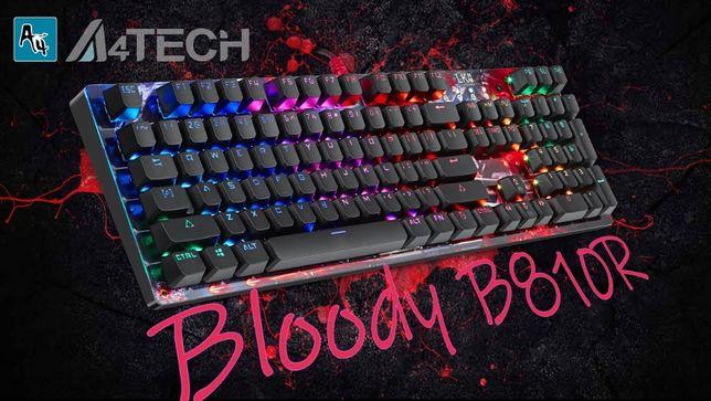 Новая на 13тыс дешевле Клавиатура A4Tech Bloody B810R, Black, USB меха