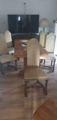 5 scaune stejar piele impozante stil