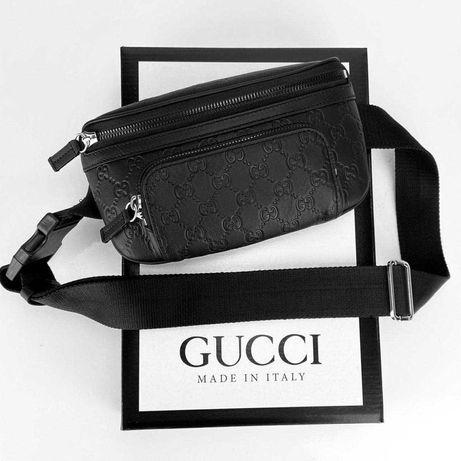 Стилна чантичка GUCCI SUPREME Eden Belt Bag, 100% естествена кожа