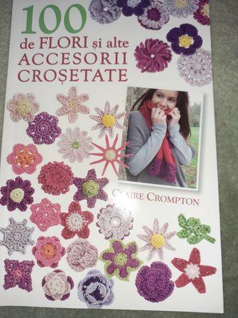 Carte cu 100 de modele de flori si alte accesorii crosetate