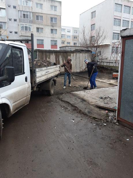 Demolare garaje case platforme trotuare taieri beton transport moluz