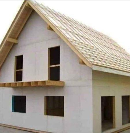 Case locuibile moduluare pe structura metalica și panou sandwich