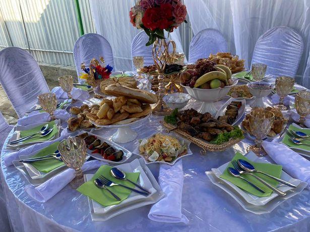 прокат посуда стол стуля и посуда полный комплекты