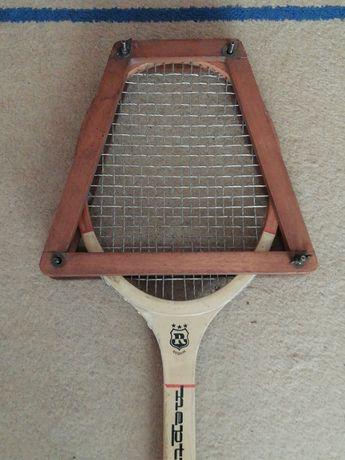 Lot Cadru vechi lemn + Racheta tenis Reghin Neptun
