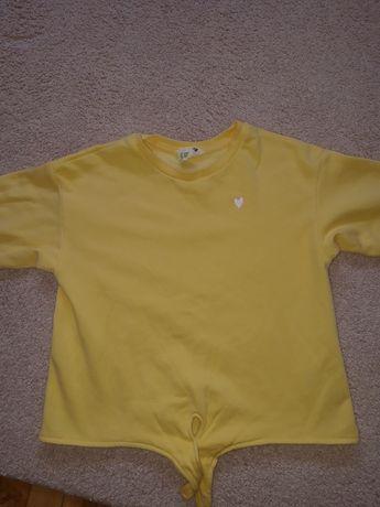 Детска жълта къса блуза