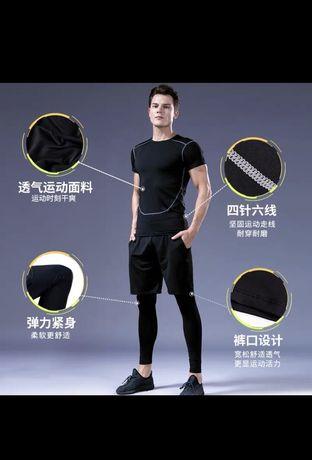 Спортивные комплекты Темобелье для Тенировки Компрессионная одежда 5в1