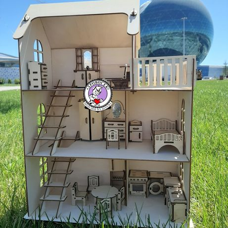 Кукольный домик с мебелью Астана